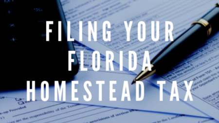 Filing your Florida Homestead Tax Exemption