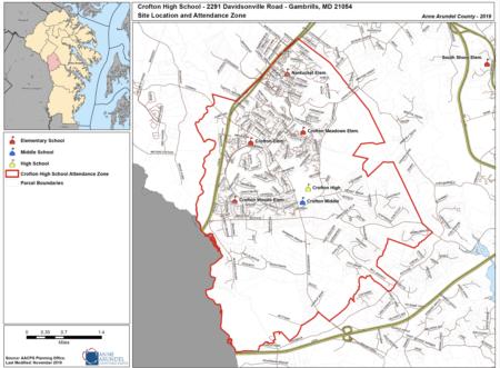 Crofton High School Attendance Map 2020