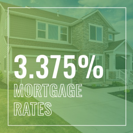 MORTGAGE RATE DROP! You can now lock in a 3.375% rate!