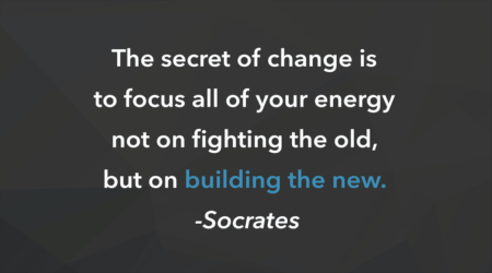 Socrates was onto something... Time to BUILD THE NEW!
