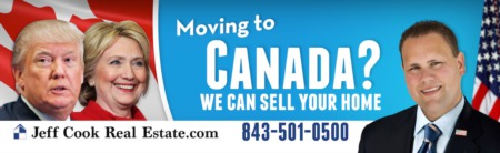 Our Infamous 'Moving to Canada?' Billboard