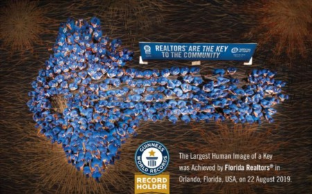 Florida Realtors Sets Guinness Record for Largest Human Image of Key