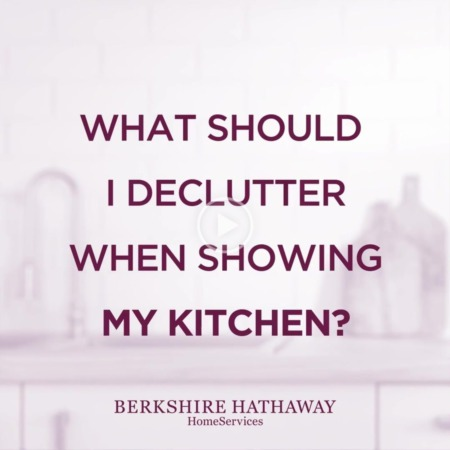 What should I declutter when showing my kitchen?