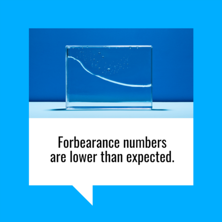 Forbearance Numbers Are Lower than Expected