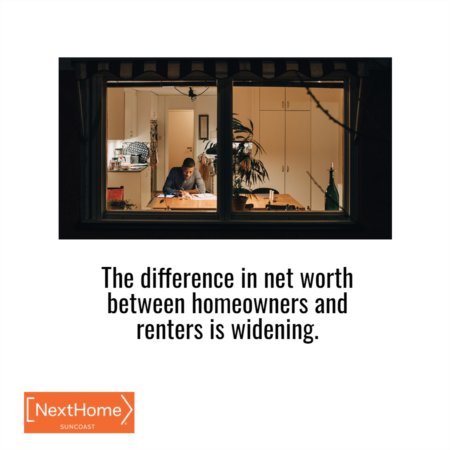 The Difference in Net Worth Between Homeowners and Renters Is Widening
