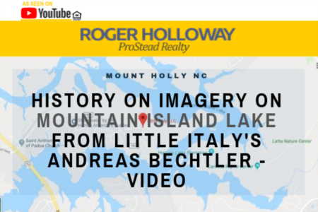 History on IMAGERY on Mountain Island Lake from Little Italy's Andreas Bechtler - Video