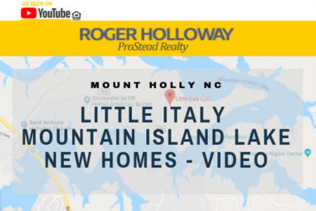 Little Italy Mountain Island Lake New Homes - Video