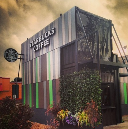 New Edgewater Starbucks Made From Recycled Shipping Containers