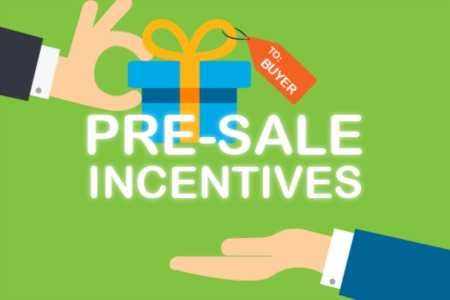 PreSale Incentives - Shop Before You Buy