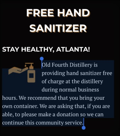 Free hand sanitizer!