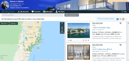 Active Properties for Sale with Video in Miami Dade