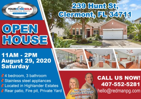 239 Hunt St, Clermont, FL 347111 OPEN HOUSE