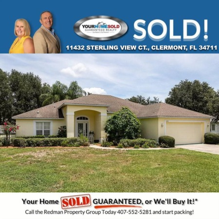 SOLD - 11432 STERLING VIEW CT., CLERMONT, FL 34711