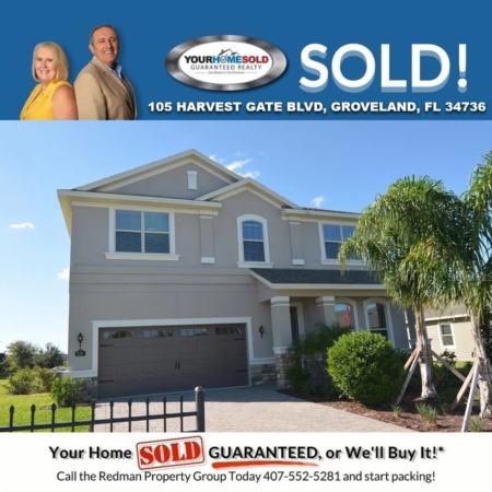 SOLD - 105 HARVEST GATE BLVD, GROVELAND, FL 34736