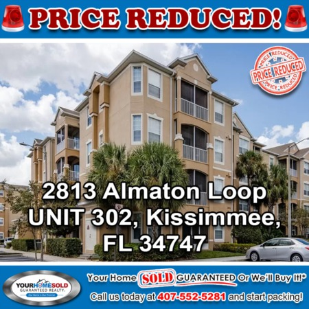 PRICE REDUCED - 2813 Almaton Loop UNIT 302, Kissimmee, FL 34747