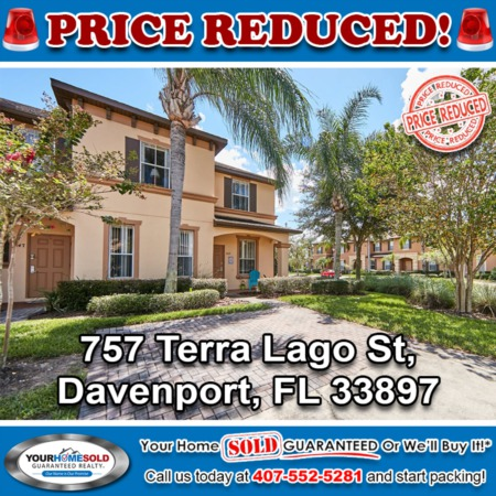 PRICE REDUCED - 757 Terra Lago St, Davenport, FL 33897