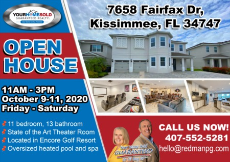 OPEN HOUSE - 7658 Fairfax Dr, Kissimmee, FL 34747