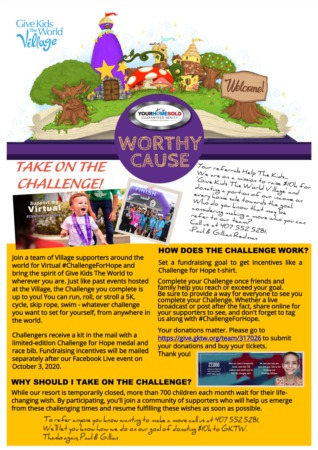 Worthy Cause - 10/9/2020