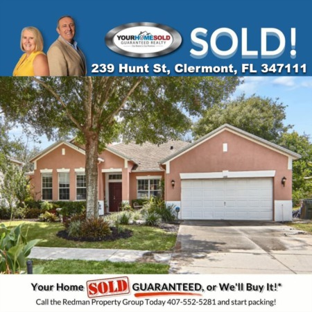 SOLD - 239 HUNT ST, CLERMONT, FL 34711