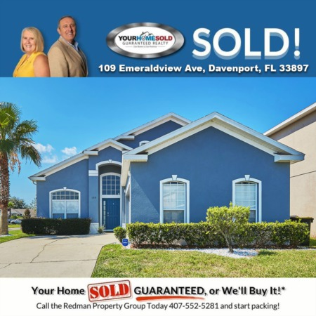 SOLD - 109 Emeraldview Ave, Davenport, FL 33897