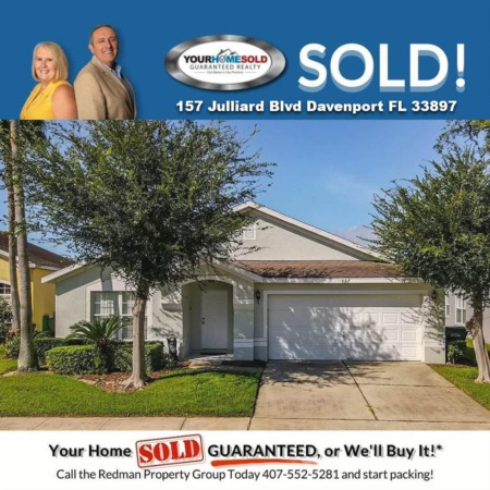 SOLD - 157 Julliard Blvd, Davenport, FL 33897