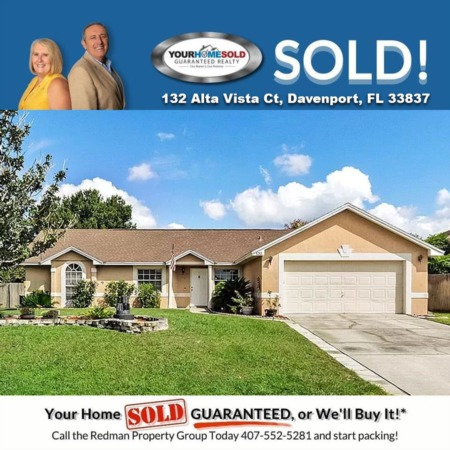 SOLD - 132 Alta Vista Ct, Davenport, FL 33837