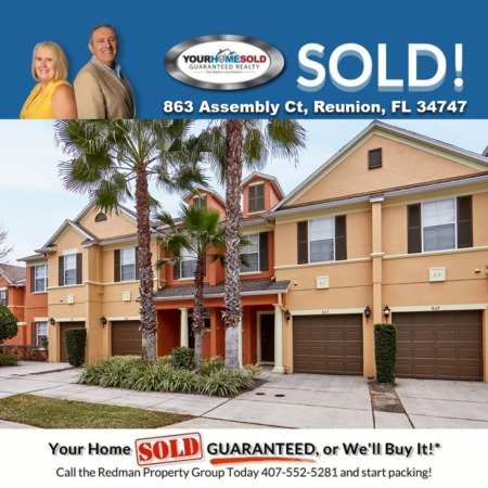 SOLD - 863 Assembly Ct, Reunion, FL 34747