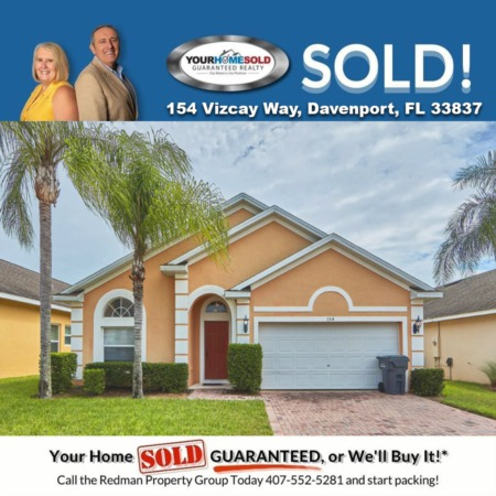 SOLD - 154 Vizcay Way, Davenport, FL 33837