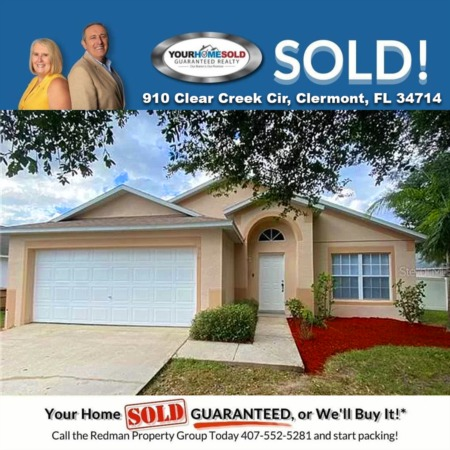 SOLD - 910 Clear Creek Cir, Clermont, FL 34714