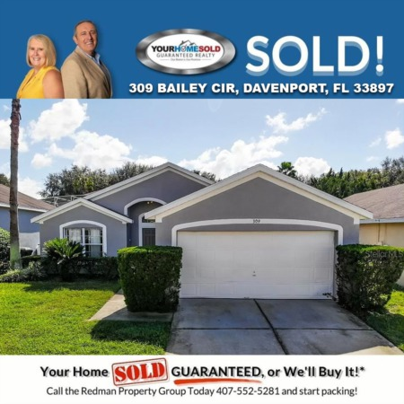 SOLD - 309 Bailey Cir, Davenport, FL 33897