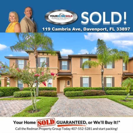 SOLD - 119 Cambria Ave, Davenport, FL 33897