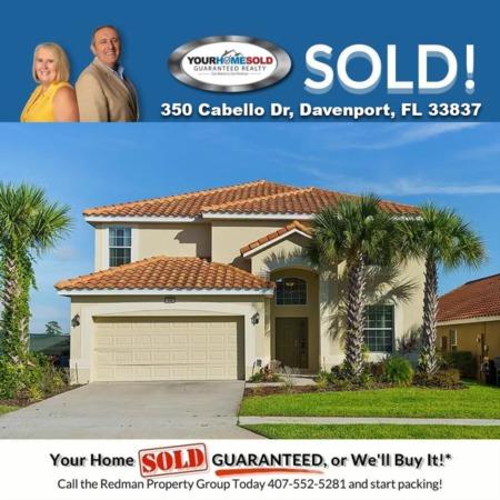 SOLD - 350 Cabello Dr, Davenport, FL 33837