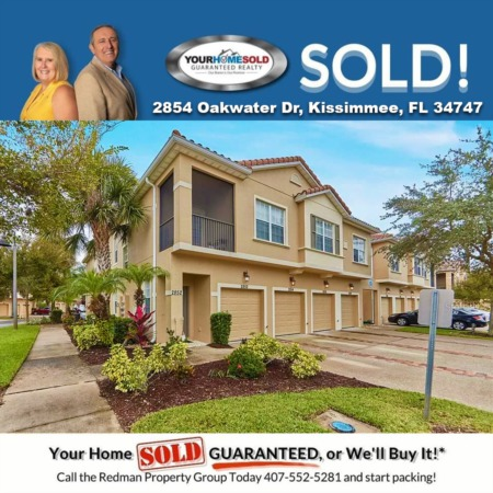 SOLD - 2854 Oakwater Dr, Kissimmee, FL 34747