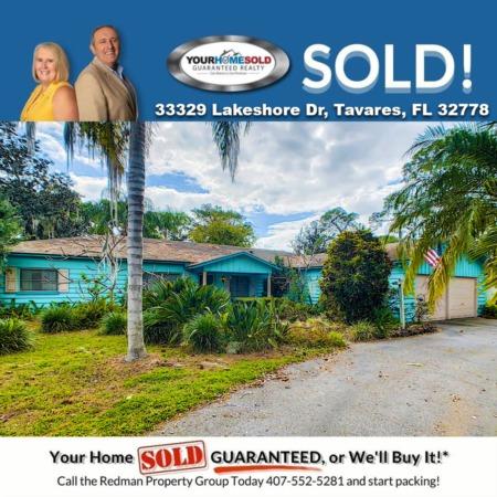 SOLD - 33329 Lakeshore Dr, Tavares, FL 32778