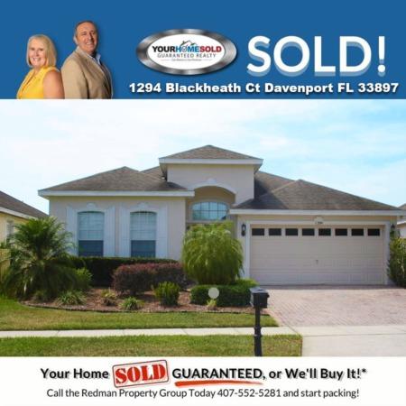 SOLD - 1294 Blackheath Ct Davenport FL 33897