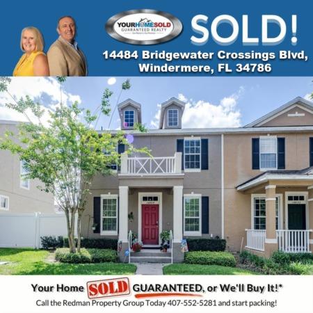 SOLD - 14484 Bridgewater Crossings Blvd, Windermere, FL 34786