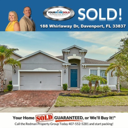 SOLD - 188 Whirlaway Dr, Davenport, FL 33837