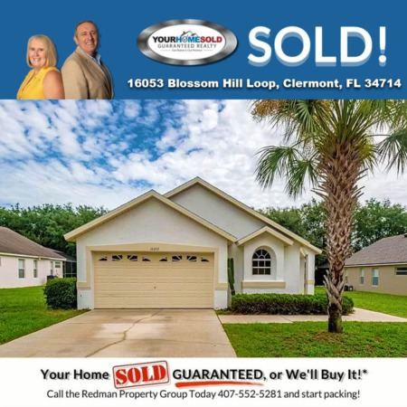 SOLD - 16053 Blossom Hill Loop, Clermont, FL 34714
