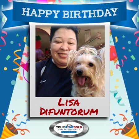 Happy birthday, Lisa Difuntorum!