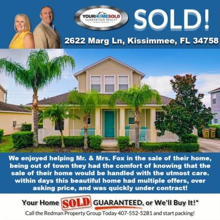 SOLD - 2622 Marg Ln, Kissimmee, FL 34758