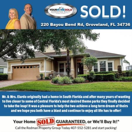 SOLD - 220 Bayou Bend Rd, Groveland, FL 34736