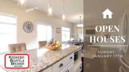 Open Houses Sunday, January 17th