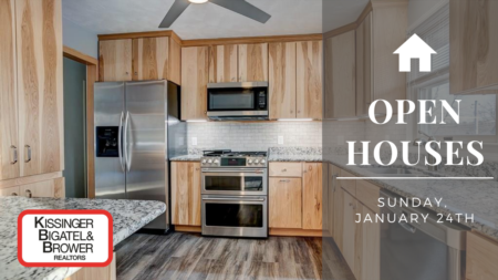 Open Houses Sunday, January 24th
