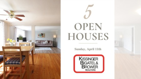 Open Houses - Sunday, April 11th