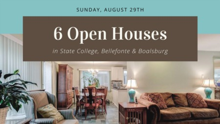 Open Houses - Sunday, August 29th