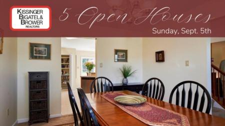 Open Houses - Sunday, September 5th