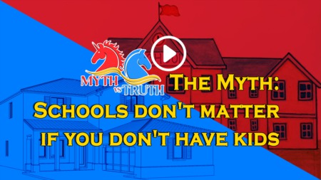 Myth: Schools don't matter if you don't have kids - is that true?