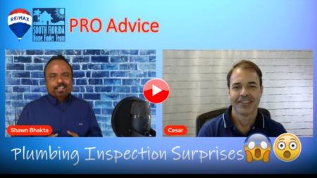 Pro Advice - Plumbing inspection surprises!!