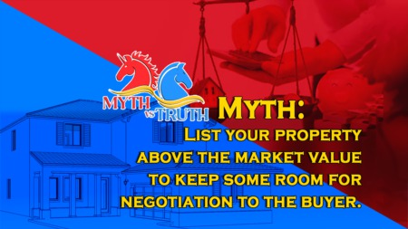 List your property above the market value to keep some room for negotiation to the buyer.