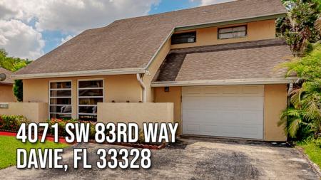 4071 SW 83rd Way,  Davie, FL 33328